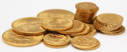 Typowe monety złote o wartości zależnej od ceny kruszcu