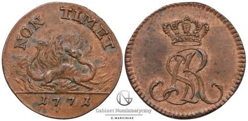 Dwugrosz 1771 z Salamandrą, sprzedany 12 maja 2016 roku na naszej aukcji za 35.100 złotych