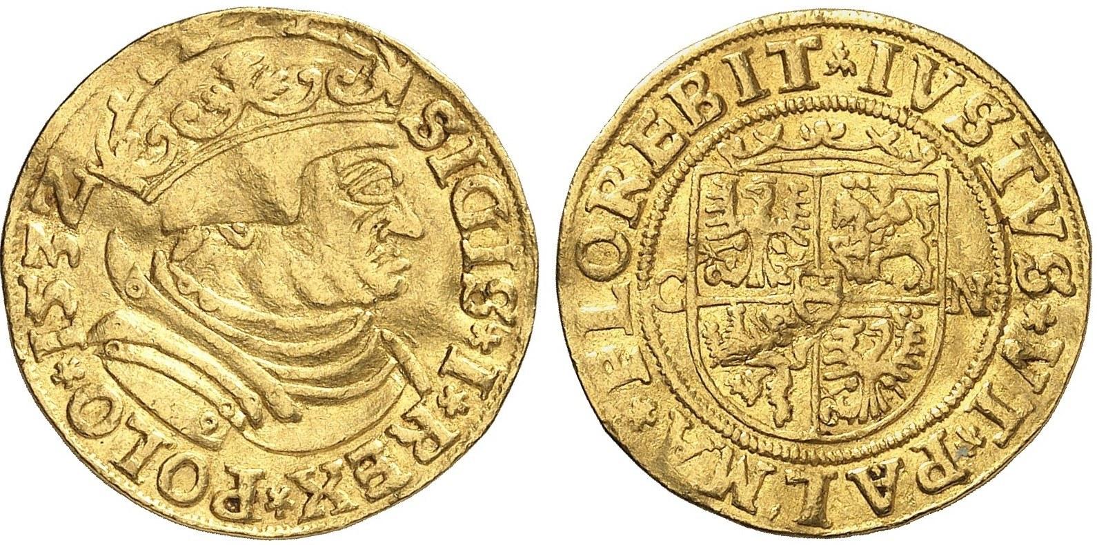 Dukat Zygmunta I Starego 1532 CN – Künker 2851