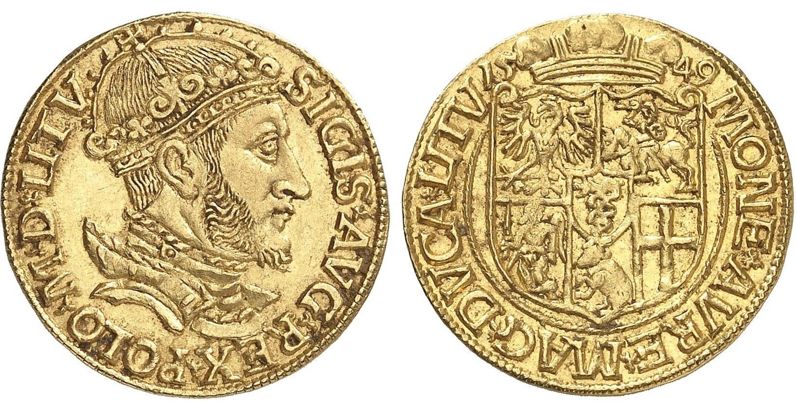 Dukat Zygmunta II Augusta 1549 – Künker 2852