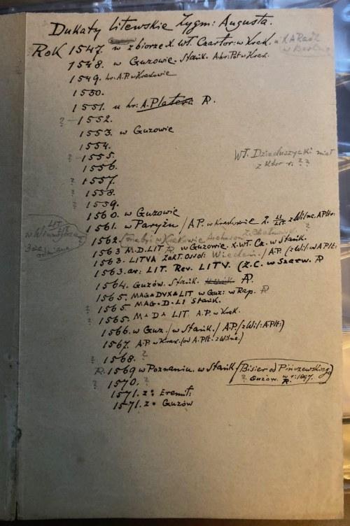 Notatki o dukatach litewskich Zygmunta II Augusta