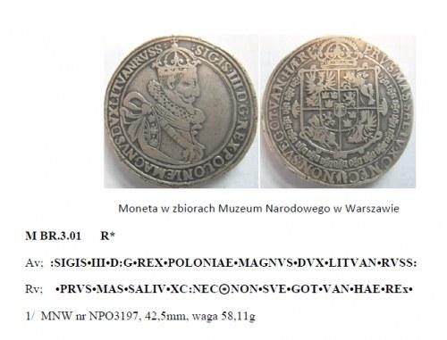 """Wycinek z książki """"Katalog talarów medalowych Zygmunta III Wazy"""" autorstwa p. Jana Dostycha"""