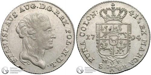 Nieopisana dwuzłotówka 1794 króla Poniatowskiego