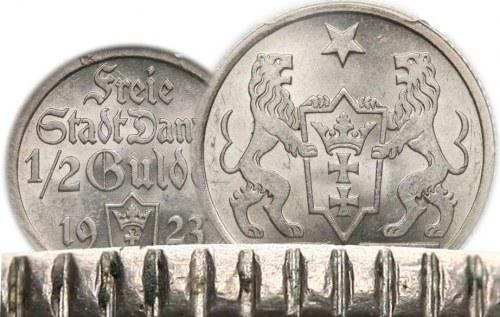 Jak sprawdzić oryginalność 1/2 i 1 gulden 1923 Gdańsk