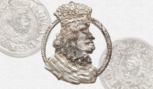 Dwugrosz gdański 1651 z obwódką – unikalny populares