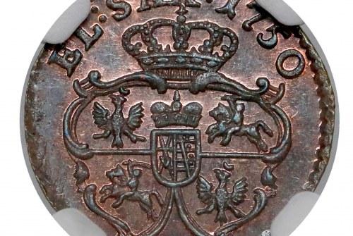 Okazowy szeląg drezdeński Augusta III