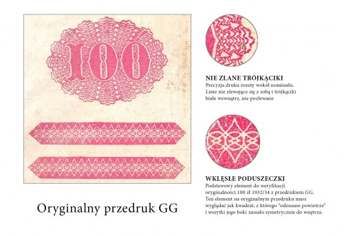 Oryginalny przedruk okupacyjny 100 zł 1932/34