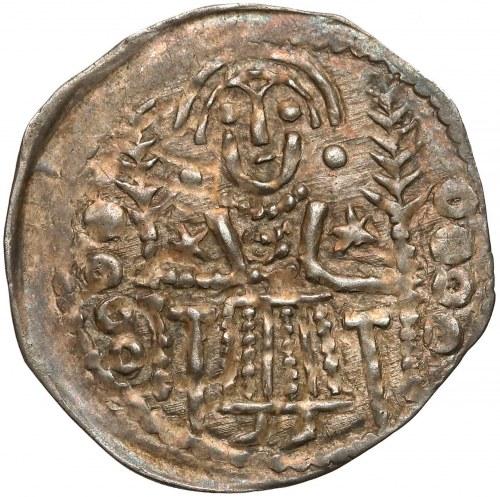 Denar Bolesława V Wstydliwego z dwoma Świętymi