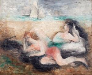 Alicja Halicka (1894 Kraków – 1975 Paryż), Para leżąca na plaży, l. 30. XX w.