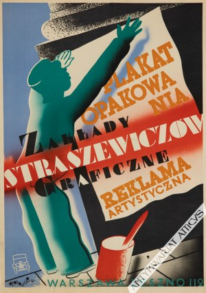 GRONOWSKI Tadeusz (1894-1990), [plakat, 1932] Zakłady Graficzne Straszewiczów. Plakat, opakowania, reklama artystyczna. Warszawa, Leszno 112