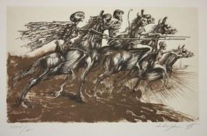 Jan LEBENSTEIN  (1930-1999), [litografia] Valkiria [lub] Czterej jeźdźcy apokalipsy