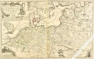 DE FER Nicolas, [mapa, Europa Północna, Polska, 1705] Estats des Couronnes de Dannemark, Suede, et Pologne sur la Mer Baltique