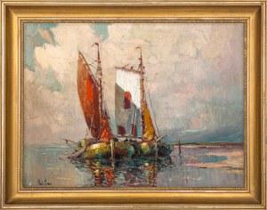 """Rudolf Priebe (1889 - 1956), """"Łodzie"""""""
