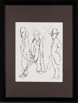 """Tadeusz Kantor (1915 - 1990), """"Szkice mężczyzn w melonikach"""""""