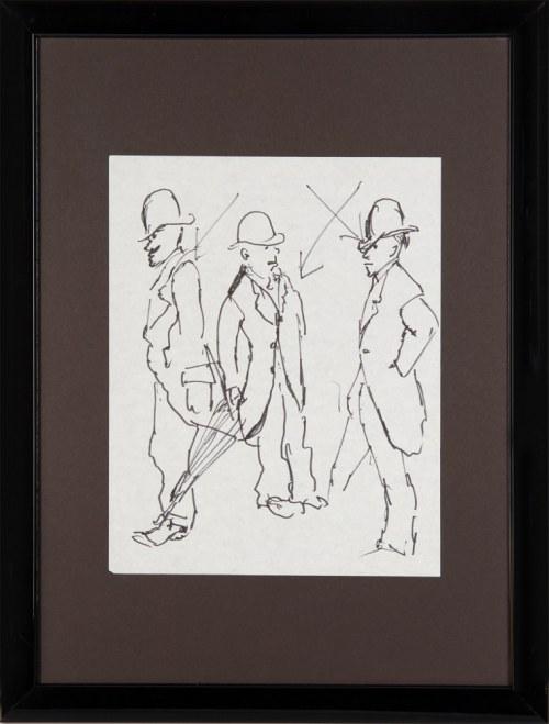 Tadeusz Kantor (1915 — 1990), Szkice mężczyzn w melonikach