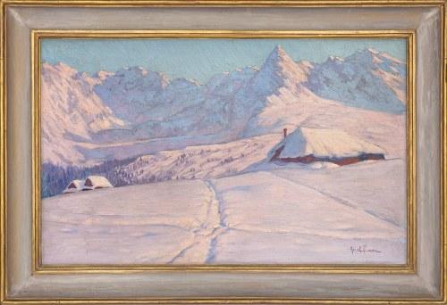 Józef Fara (1908 — 1973), Widok na Kościelec z Hali Gąsienicowej
