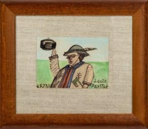 Nikifor Krynicki (1895 - 1968), Góralczyk (Autoportret)