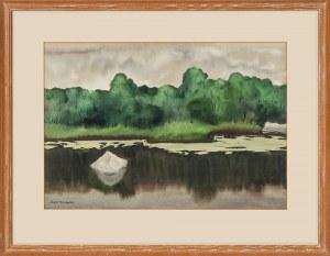 """Rafał Malczewski (1892 - 1965), """"Nad rzeką"""""""