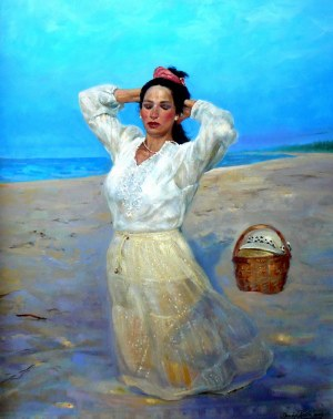 Dariusz KALETA, Kobieta na plaży