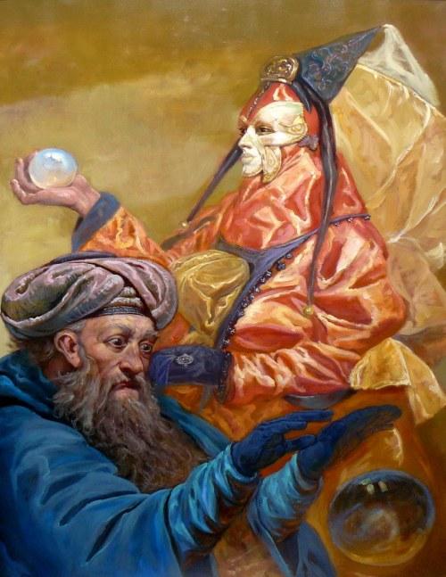 Dariusz KALETA - DARIUSS,, Magowie 2, olej płótno, 90x64cm
