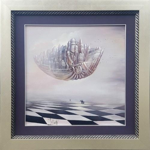 SĘTOWSKI TOMASZ, Arka 2019, olej na płótnie, 50x50cm