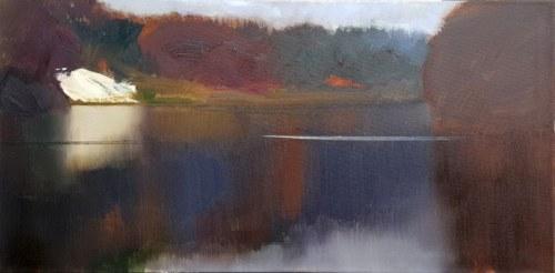 BAJ STAISŁAW, Rzeka Bug - Jesień 2018, olej na płótnie, 50x100cm