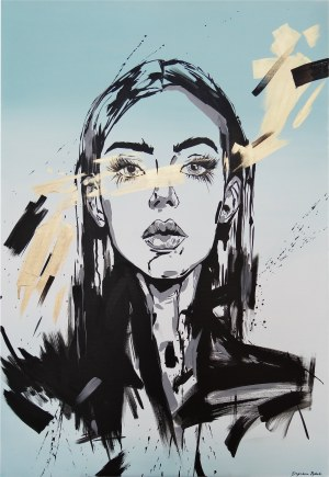 Dagmara Rybak, Blue girl, 2019