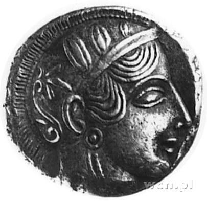ATTYKA- ATENY, tetradrachma (449-413 p.n.e.), Aw: Głowa...