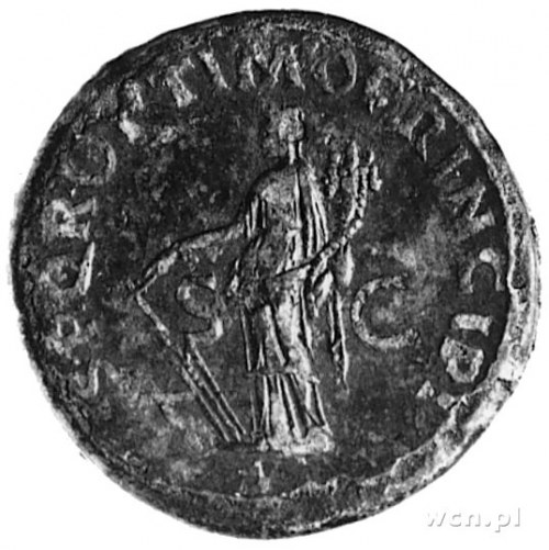 sesterc, Aw: Popiersie Trajana w prawo i napis: IMP CAE...
