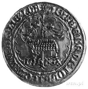 Jan II Dobry 1350-1364, mouton d'or, Aw: Baranek Boży i...