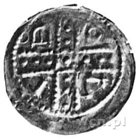 denar jednostronny; W krzyż dwunitkowy wpisany napis: B...