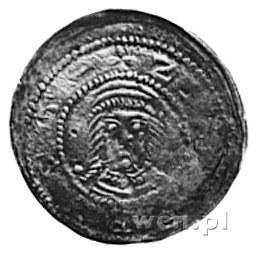 denar jednostronny; Głowa na wprost; w otoku napis: ADA...