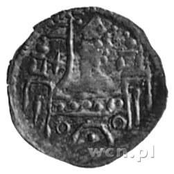 brakteat; Książe w lewo na murze z dwoma wieżami, Str.1...