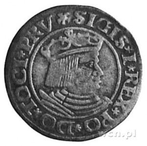 grosz 1530, Gdańsk, Aw: Popiersie i napis, Rw: Herb Gda...