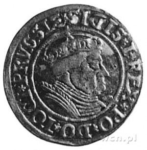 grosz 1535, Toruń, Aw: Popiersie i napis, Rw: Orzeł Pru...