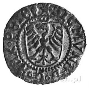szeląg 1524, Gdańsk, Aw: Herb Gdańska i napis, Rw: Orze...