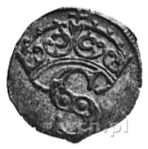 denar b.d., Toruń, Aw: Orzeł Prus Król., Rw: Korona i l...