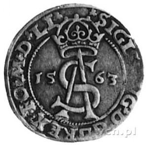 trojak 1563, Wilno, Aw: j.w., Rw: Pogoń w tarczy i napi...