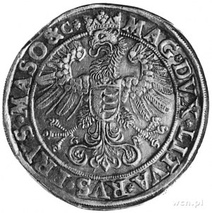 talar 1580, Olkusz, Aw: Półpostać i napis, Rw: Orzeł z ...
