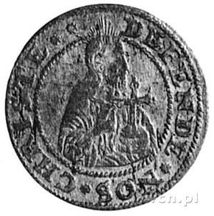 grosz oblężniczy 1577, Gdańsk, Aw: Półpostać Chrystusa ...