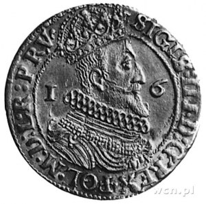 ort 1623, Gdańsk, Aw: Popiersie i napis, Rw: Herb Gdańs...