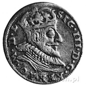 trojak 1590, Wilno, Aw: Popiersie i napis, Rw: Herby i ...