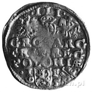 trojak 1595, Lublin, Aw: Popiersie i napis, Rw: Herby i...