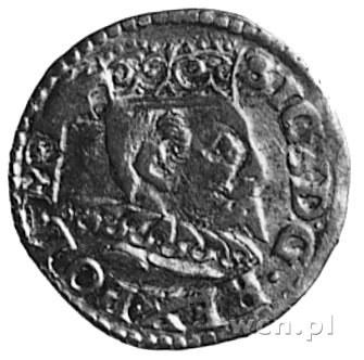 trojak 1596, Bydgoszcz, Aw: Popiersie i napis, Rw: Herb...