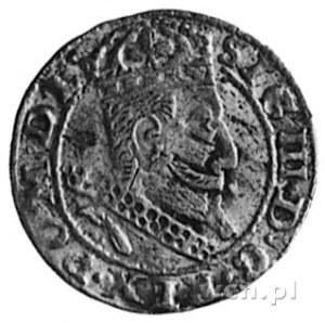 grosz 1607, Kraków, Aw: Popiersie i napis, Rw: Orzeł i ...
