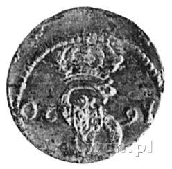 dwudenar 1620, Wilno, Aw: Odwrócony monogram i korona. ...