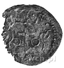 denar 1596, Wschowa, Aw: Orzeł, Rw: Herb Wschowy, Gum.1...