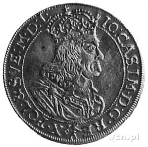 2 dukaty 1664, Kraków, Aw: Popiersie i napis, Rw: Tarcz...