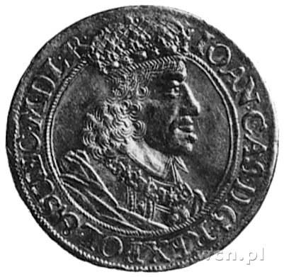 dukat 1656, Gdańsk, Aw: Popiersie i napis, Rw: Herb Gda...