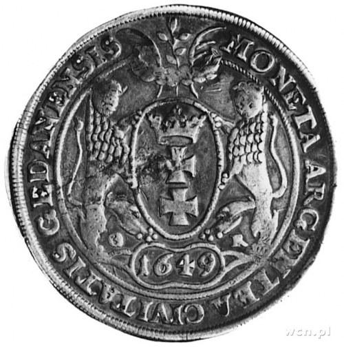 talar 1649, Gdańsk, j.w., Dav.4358, Kurp.888 R3, T.7, o...